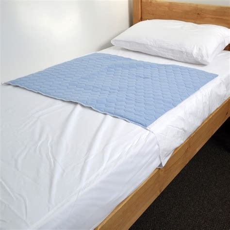 bed protector pads washable absorbent bed pad incontinence protection blue
