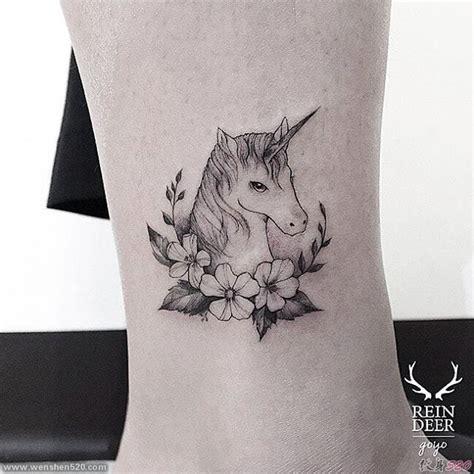 精品的细线条动植物纹身图案