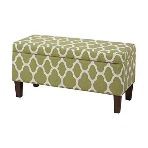 decorative storage ottoman homepop upholstered decorative storage ottoman green