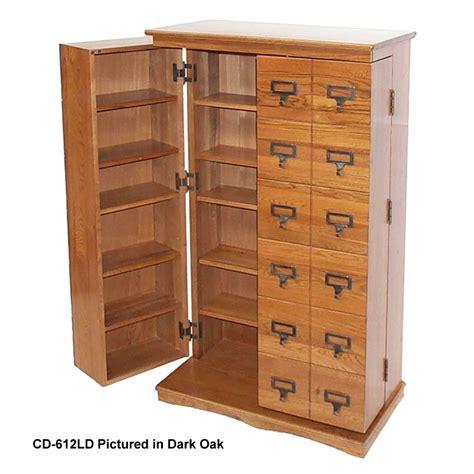 Cd Storage Cupboard - leslie dame library style multimedia storage cabinet