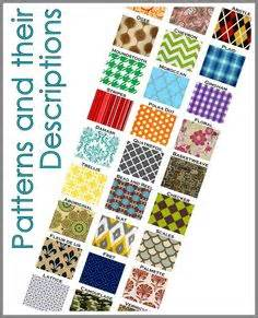 pattern making glossary patterns names and pattern names on pinterest