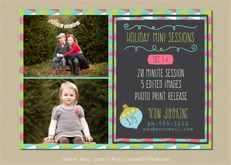 Holiday Mini Session Template Flyer Templates On Creative Market Free Mini Session Templates