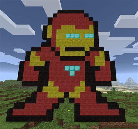 Kaos Ironman 8bit Ironman 1 8 bit pixel in minecraft r2d2 cupcake