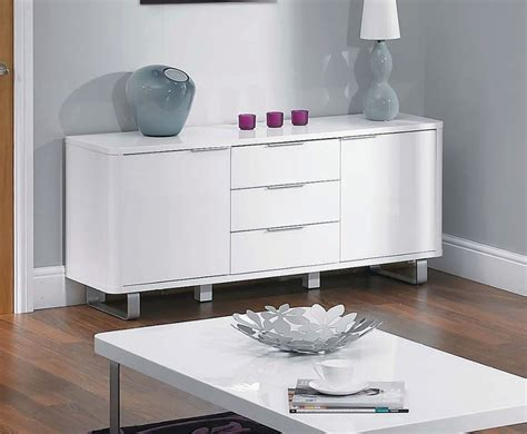 Lemari Buffet White Glossy white high gloss sideboard uk delivery