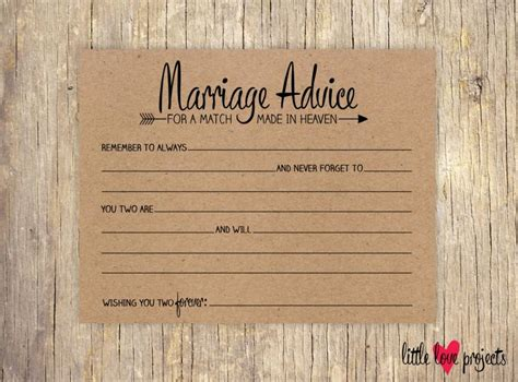 Wedding Advice For Groom by Wedding Advice Cards Advice For The And Groom