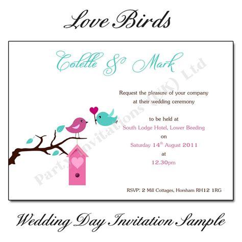 birds wedding invitations uk birds wedding invitations free uk delivery