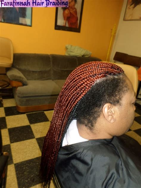 saved hair in the back and box braids in the front box braids two tone layers side shaved yelp