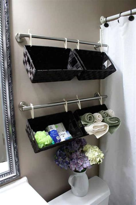 30 diy bathroom storage and space savers diy avenue
