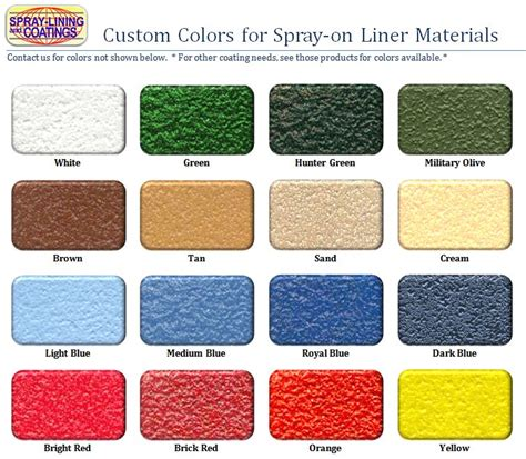 rhino liner colors color match bed liner kit spray lining coatings storefront