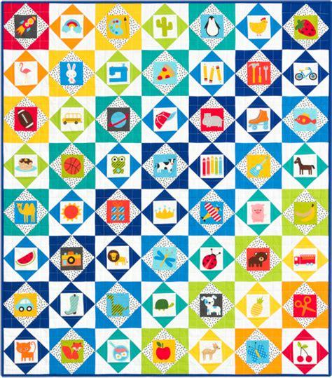 pattern quantify exception i spy economy block free pattern robert kaufman fabric