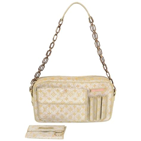 louis vuitton silver metallic mini lin monogram mckenna