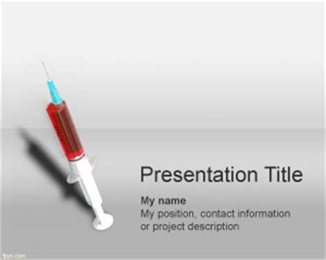 syringe powerpoint template is a free medical powerpoint