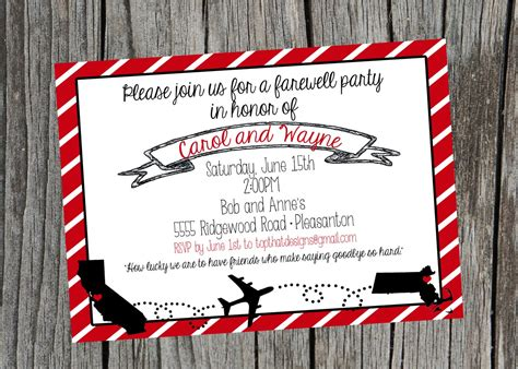 Going Away Moving Party Invitation Digital File Going Away Invitation Template