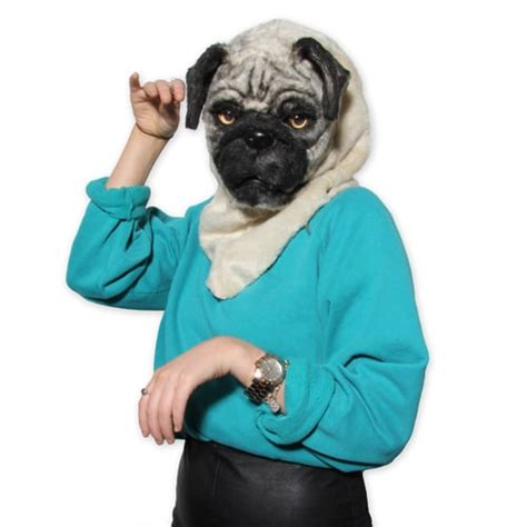 pug mask with moving pug mask features next moving mask technology