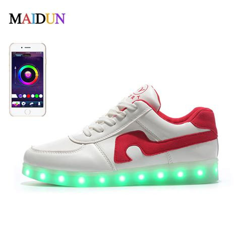 light up shoes app couple led shoes app control 8 colors in 1 shining led