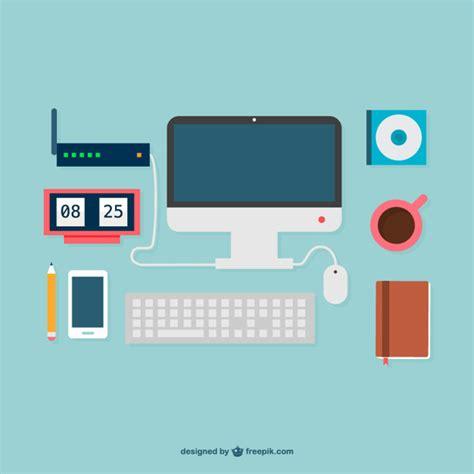 graphics design essentials flat design office supplies graphics vector free download