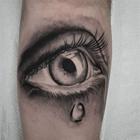crying tattoo will be adding more around the eye studio xiii gallery