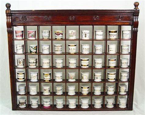 cabinet mug rack barbershop mug rack antique mugs