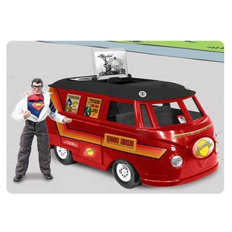 figure vehicles superman daily planet vehicle with clark kent figure