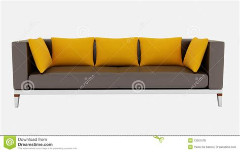 brown and orange sofa brown and orange couch royalty free stock photos image