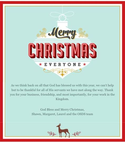 christmas email love the wording email merry