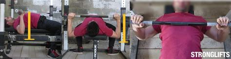 bench press shoulder position how to bench press with proper form the definitive guide stronglifts