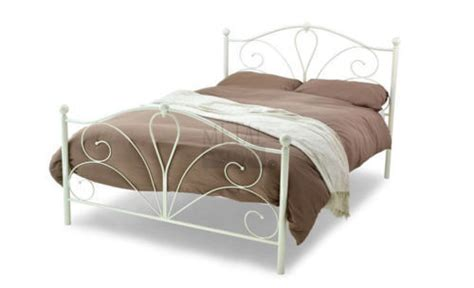 4 Foot Bed Frames Black Or Ivory Metal Bed Frame Single 3ft 4 Foot 6 New