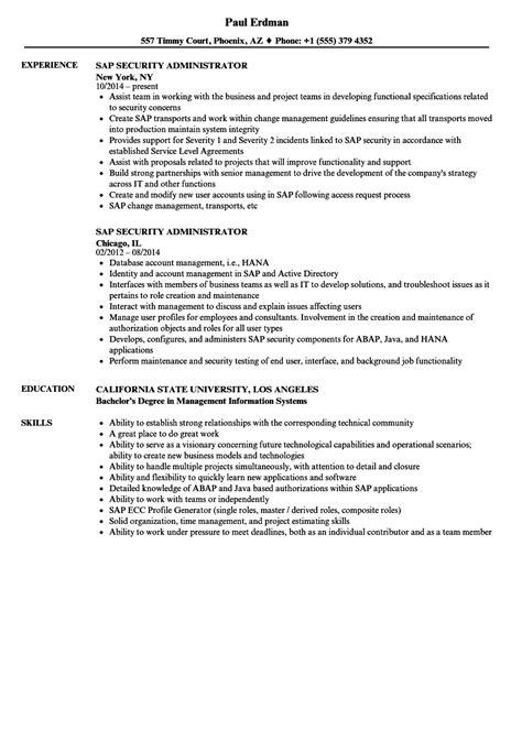 sap security administrator resume sles velvet