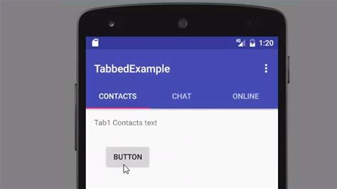 how to tabs on android phone creating tabs in android studio with tabbed activity