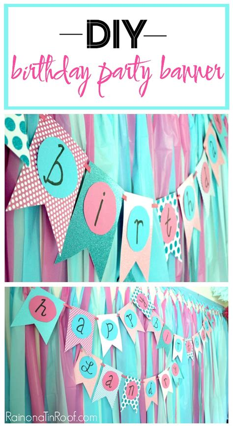 Diy Decorations by Simple Diy Birthday Banner Tutorial
