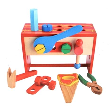 boys wooden tool bench kids wooden tool box with work bench
