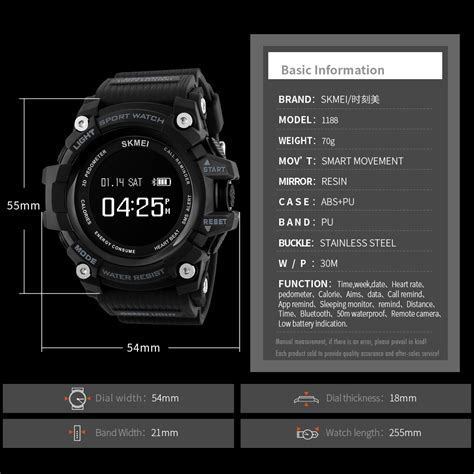 Skmei Jam Tangan Sporty Smartwatch Bluetooth 1188 Original skmei jam tangan sporty smartwatch bluetooth 1188 blue jakartanotebook