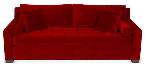 florence red chenille tufted sofa contemporary sofas