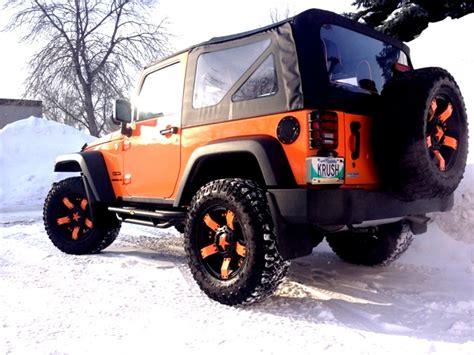 orange jeep wrangler with black rims the 2012 jeep wrangler jk orange krush with xd rockstar