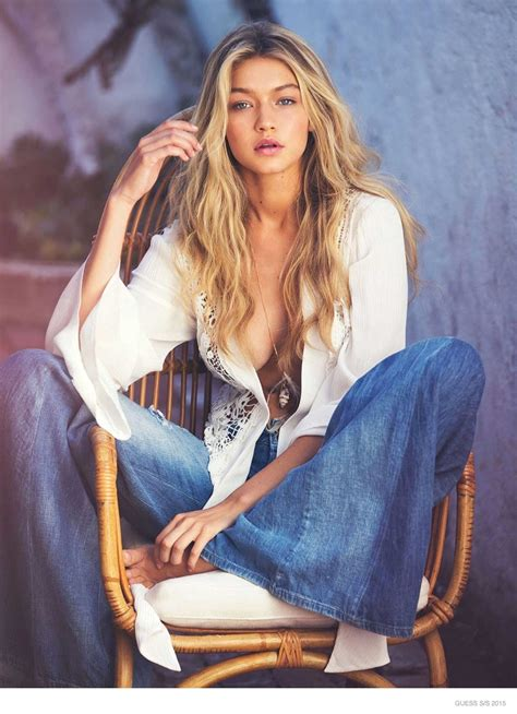 Dave Top Nn gigi hadid in guess 2015 caign photos
