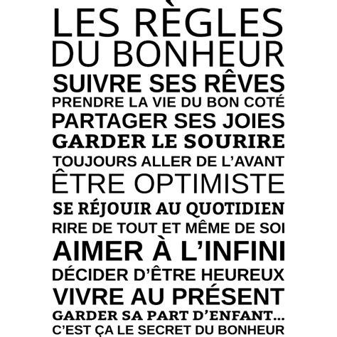 le ministre du bonheur 9782072727320 sticker les r 232 gles du bonheur stickers citation texte opensticker