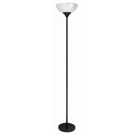 lite source ls 8540blk wht black single light 69 quot up lighting floor l with acrylic bowl shade
