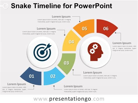 powerpoint timeline snake timeline diagram for powerpoint presentationgo