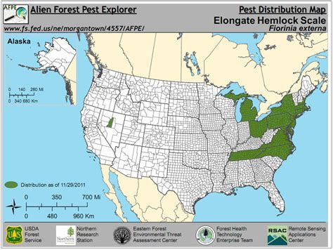 forest map of usa forest pest insects in america a photographic guide