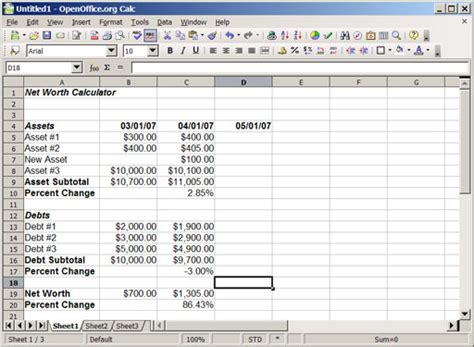 Find Net Worth Building Your Own Monthly Net Worth Calculator Using A Spreadsheet The Simple Dollar