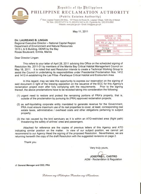 Exle Of Embassy Letter Business Letter Format Philippines 28 Images Exle Letter For Tax Exemption Sle Letter Of