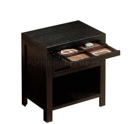 Nightstand Storage by Contemporary One Drawer Nightstand With Storage Shelf