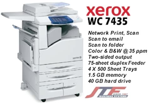 photocopy machine with its specifications and cost xerox workcentre 7435 copier printer color mfp 35 ppm 7435