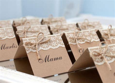 Hochzeit Tischkarten by 10x Tischkarten Hochzeit Rustikale Spitze Namenskarten