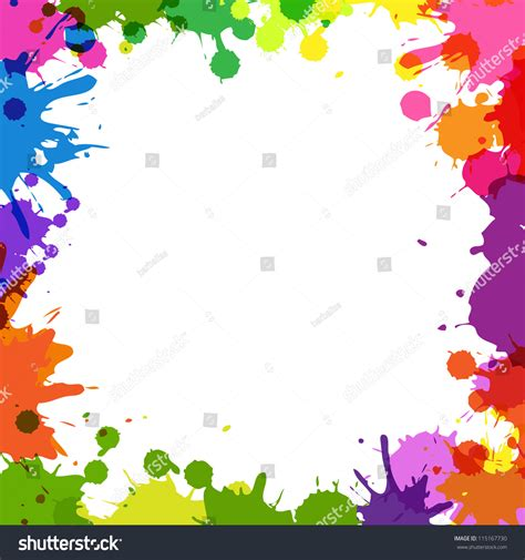 vector pattern with colorful blobs frame color blobs isolated on white stock vector 115167730