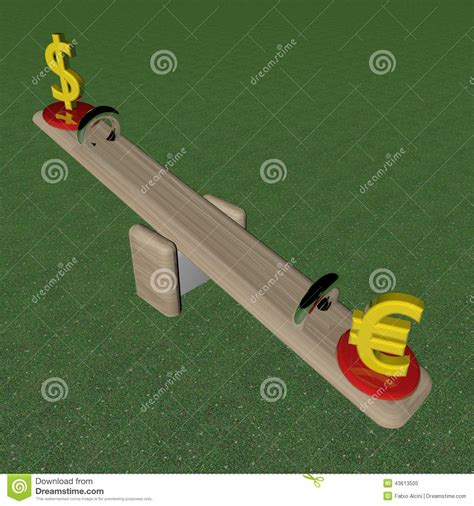 swing for dollars swing with values stock illustration image 43613505
