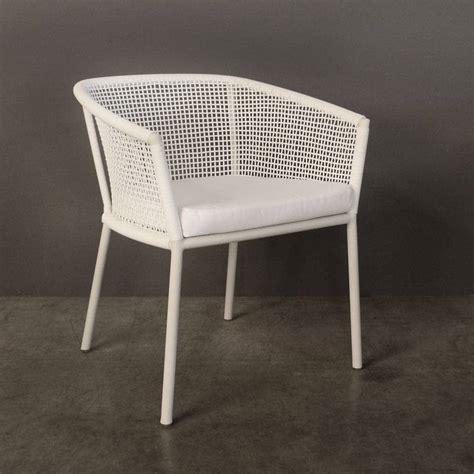 washington woven outdoor dining chair white design