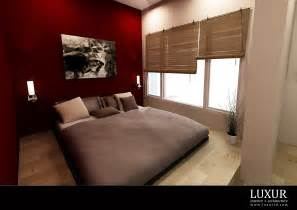 Bedroom amazing master bedroom design with red wall paint also white