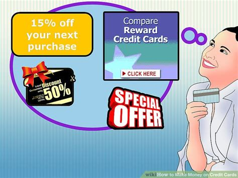 make money credit cards 3 ways to make money on credit cards wikihow