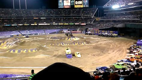 monster truck show in oakland ca monster jam oakland 02 22 2014 youtube